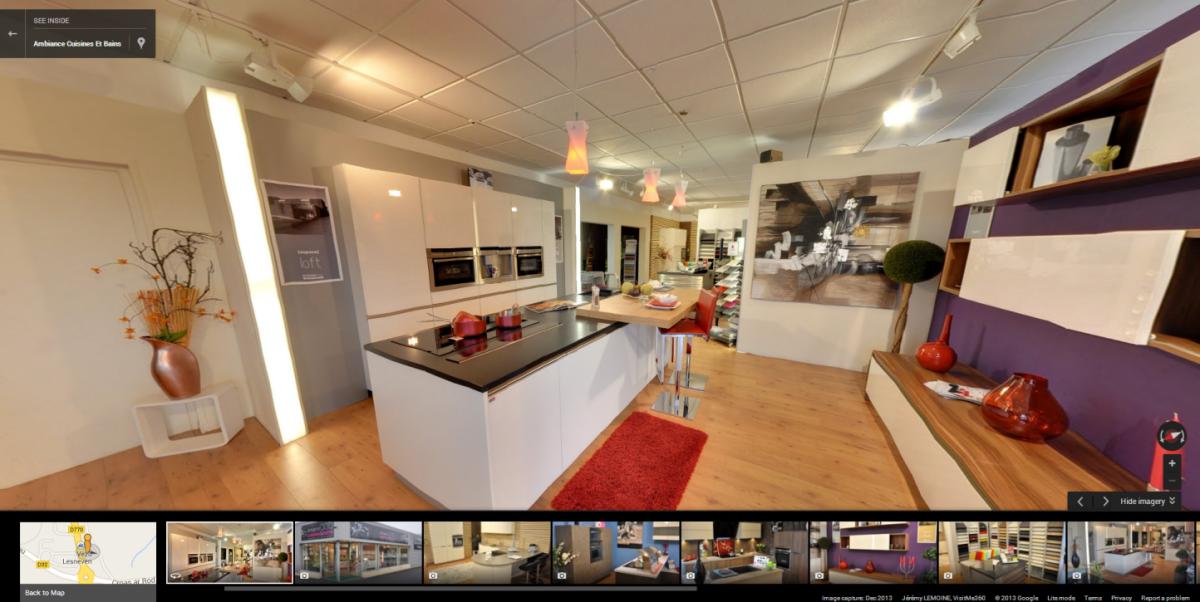 visite virtuelle google de ambiances cuisines et bains lesneven. Black Bedroom Furniture Sets. Home Design Ideas